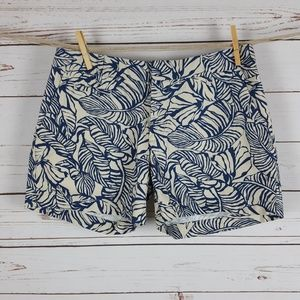 Patagonia Navy Ivory Leaf Print All-Wear Shorts 4